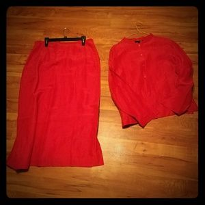 Countryshop Other - 2 piece ruby red skirt and top